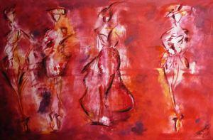 Women In Red Technik: Acryl