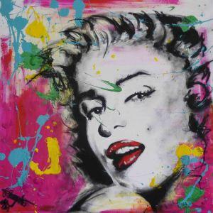 Marilyn Monroe  Technik: Acryl