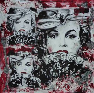 Marilyn Monroe Technik: Acryl | Gips