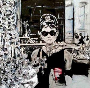 Audrey Hepburn  Technik: Acryl | Gips